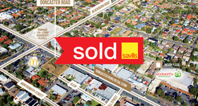 Development / Land commercial property sold at 1027-1029 Doncaster Road Doncaster East VIC 3109