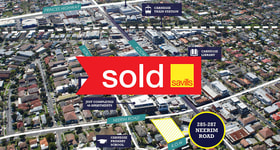 Development / Land commercial property sold at 285-287 Neerim Road Carnegie VIC 3163