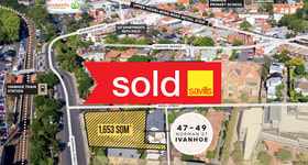 Development / Land commercial property sold at 47-49 Norman Street Ivanhoe VIC 3079
