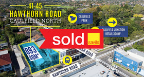Development / Land commercial property sold at 41-45 Hawthorn Road Caulfield North VIC 3161