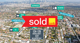 Shop & Retail commercial property sold at 124-126 Edgevale Road & 122 Wellington Street Kew VIC 3101