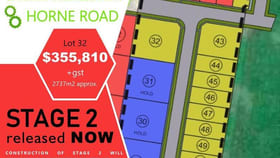 Development / Land commercial property for sale at Lot 32/ Horne  Road Warrnambool VIC 3280