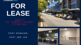 Offices commercial property leased at 1/45 Cedric Street Stirling WA 6021