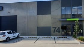 Showrooms / Bulky Goods commercial property for lease at Unit 74/2 Thomsons Rd Keilor Park VIC 3042