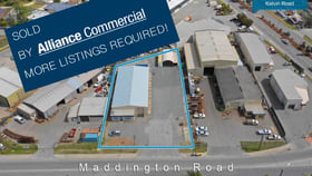 Factory, Warehouse & Industrial commercial property for sale at 99 Maddington Road Maddington WA 6109