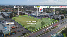 Development / Land commercial property for sale at 65 Hallam  Road Hampton Park VIC 3976
