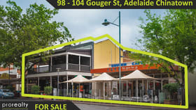 Hotel / Leisure commercial property for sale at 98 - 104 Gouger Street Adelaide SA 5000