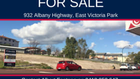 Development / Land commercial property for sale at 932 Albany Highway East Victoria Park WA 6101