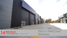 Factory, Warehouse & Industrial commercial property for sale at 25/5-11 Tariff Court Werribee VIC 3030