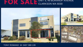 Offices commercial property for sale at 5/49 Boranup Avenue Clarkson WA 6030