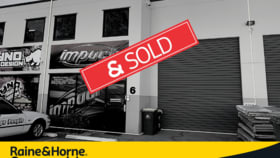 Factory, Warehouse & Industrial commercial property sold at 6/22 Reliance Dr Tuggerah NSW 2259