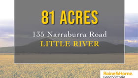 Development / Land commercial property for sale at 135 Narraburra Road Little River VIC 3211