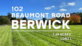 Development / Land commercial property for sale at 102 Beaumont Road Berwick VIC 3806