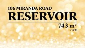 Development / Land commercial property for sale at 106 Miranda Road Reservoir VIC 3073