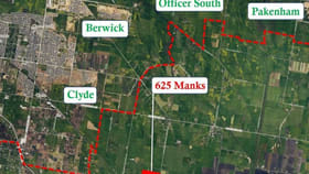 Rural / Farming commercial property for sale at 625 Manks Road Clyde VIC 3978