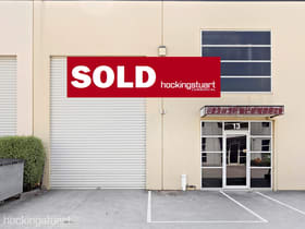 Factory, Warehouse & Industrial commercial property sold at 13/21 Barry Street Bayswater VIC 3153