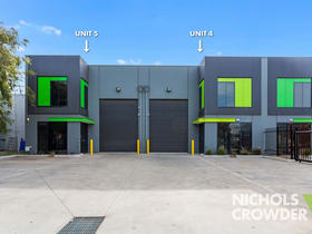 Factory, Warehouse & Industrial commercial property for sale at 4 & 5/1-5 Hamlet Street Cheltenham VIC 3192
