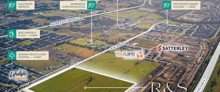 Development / Land commercial property for sale at Lot 1/Rix Road (Rix & Stephens) Officer VIC 3809
