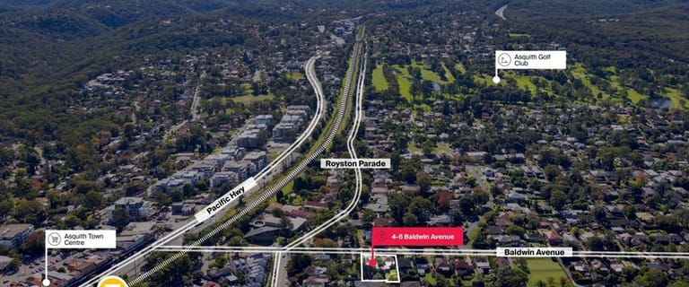 Development / Land commercial property sold at 4-6 Baldwin Avenue Asquith NSW 2077