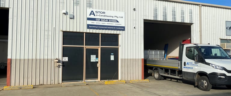 Factory, Warehouse & Industrial commercial property for lease at Unit 5/73 Vicars Street Mitchell ACT 2911