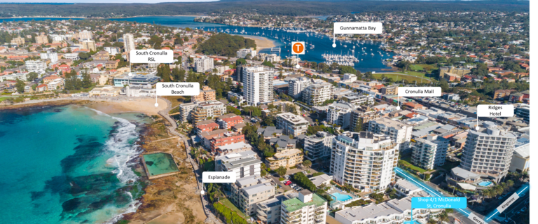 Shop & Retail commercial property for lease at Shop 4/1 McDonald Street Cronulla NSW 2230