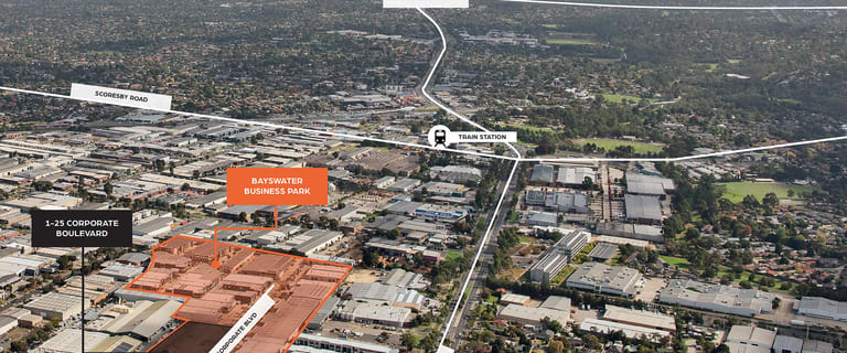 Showrooms / Bulky Goods commercial property for lease at 1 - 25 Corporate Boulevard Bayswater VIC 3153
