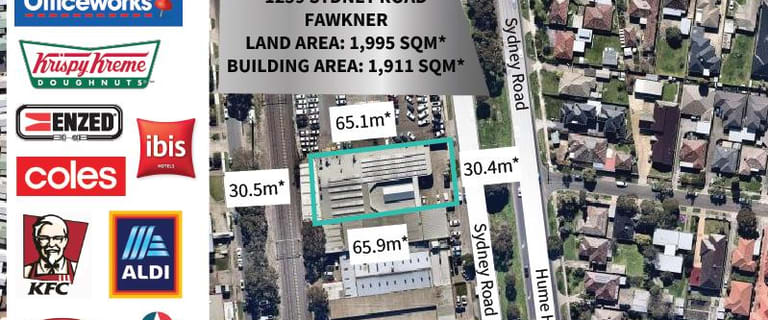 Industrial / Warehouse commercial property for sale at 1259 Sydney Road Fawkner VIC 3060