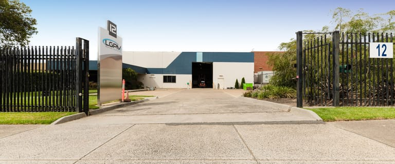 Factory, Warehouse & Industrial commercial property for sale at 12 Keith Campbell Court Scoresby VIC 3179