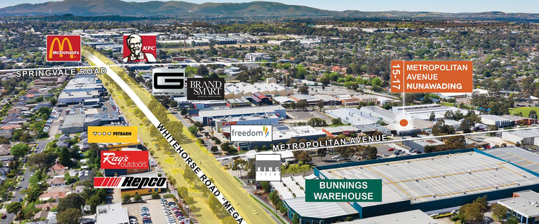 Factory, Warehouse & Industrial commercial property for sale at 15-17 Metropolitan Avenue Nunawading VIC 3131