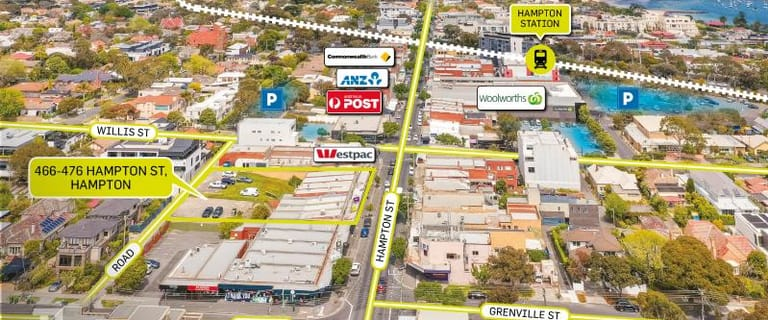Development / Land commercial property for sale at 466-476 Hampton Street Hampton VIC 3188