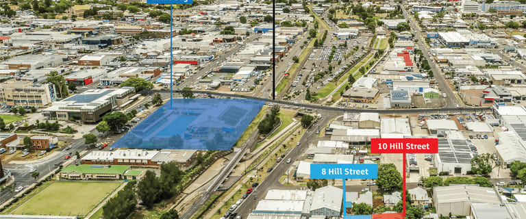 Factory, Warehouse & Industrial commercial property for sale at 8 & 10 Hill Street Toowoomba QLD 4350