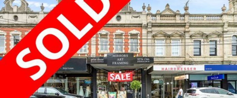 Shop & Retail commercial property sold at 60 Glenferrie Road Malvern VIC 3144