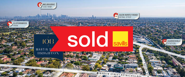 Development / Land commercial property sold at 108 Martin Street Brighton VIC 3186