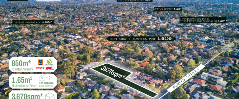 Development / Land commercial property for sale at 348 Porter Street Templestowe VIC 3106