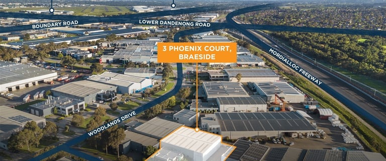 Factory, Warehouse & Industrial commercial property for sale at 3 Phoenix Court Braeside VIC 3195