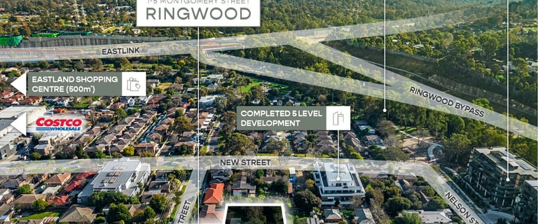 Development / Land commercial property for sale at 1-5 Montgomery Street Ringwood VIC 3134