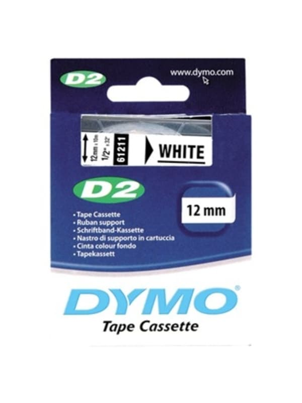 DYMO 61211 Labeltape - Wit - 12 mm 10 m