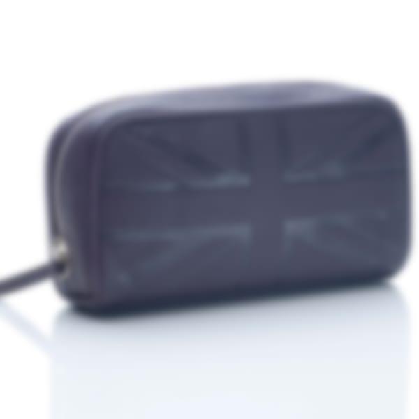 Leather small cosmetic case in Britannia