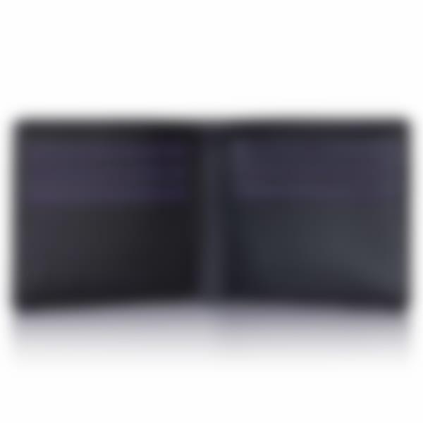 Black Saffiano leather billfold wallet open