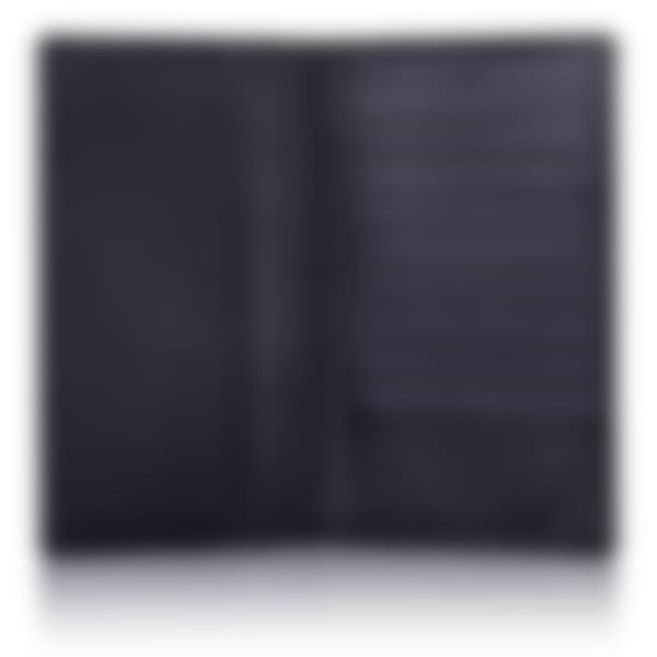 Black Saffiano leather breast wallet open