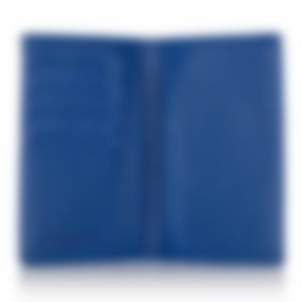 Richmond leather passport wallet open