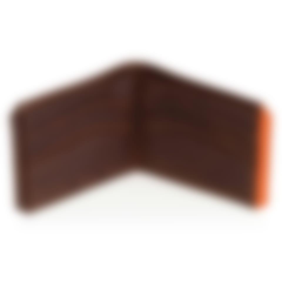 Camden leather billfold wallet open