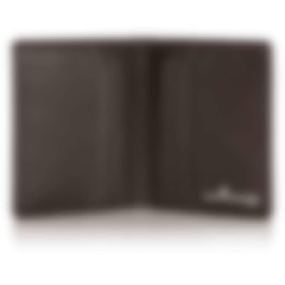 Malvern leather bifold wallet open