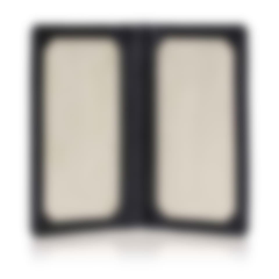 Malvern leather travel card holder open