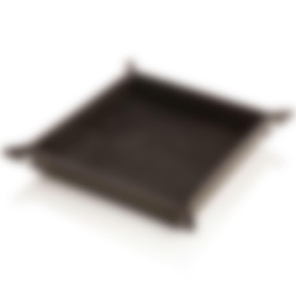 Malvern leather valet tray