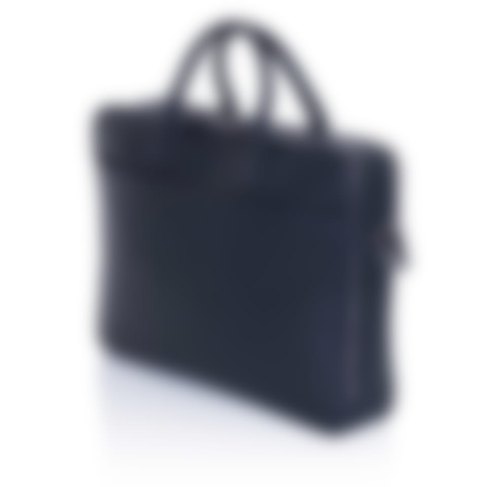 Richmond leather executive briefcase side