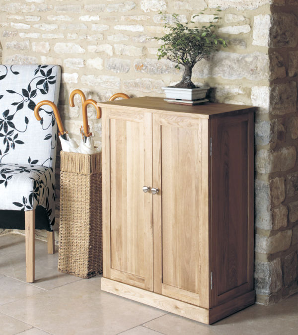 Mobel Light Oak Shoe Cupboard
