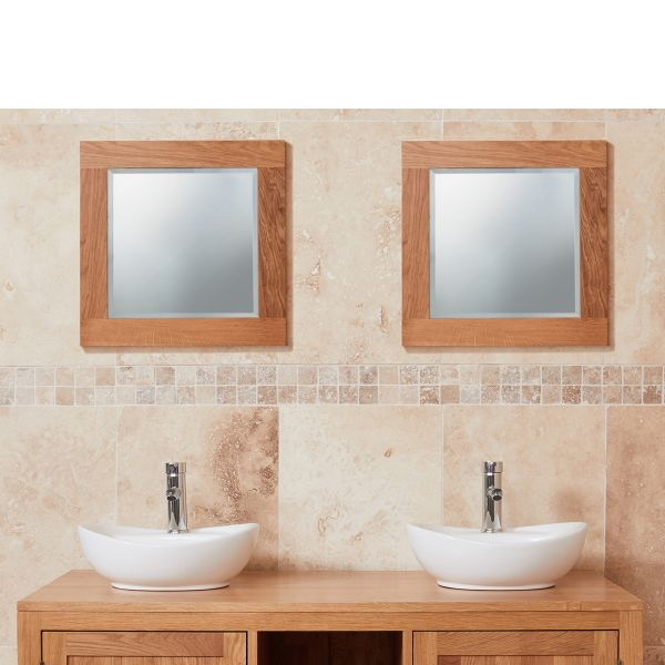 Mobel Oak Small Bathroom Mirror
