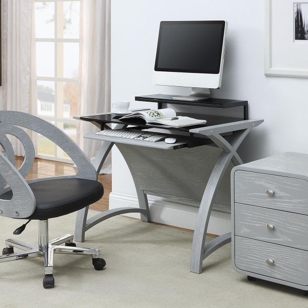 Curve Home Office Grey Ash Desk (90cm)