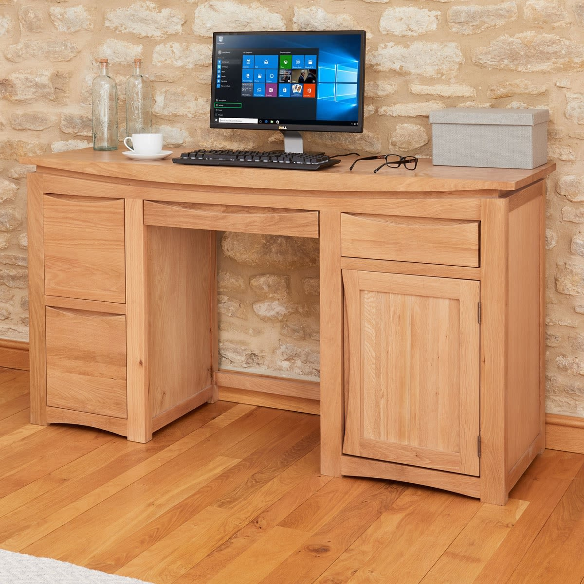Roscoe Contemporary Oak Home Office Desk Was 56900 Now 48000